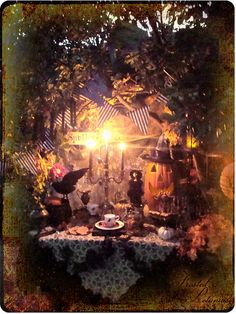 Frosted Petunias: a tea party under a halloween moon Halloween Moon, Halloween 2015, Happy Halloween, Halloween Party, Halloween Magic, Haunted Halloween, Halloween Stuff, Vintage Halloween, Frost Moon