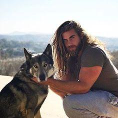 Brock O'Hurn - I love men who love animals. Brock Ohurn, Hair Men Style, Slicked Back Hair, Beard Styles For Men, Good Looking Men, Moustache, Perfect Man, Bearded Men, Cute Guys