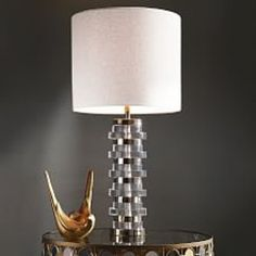 Clear Disc Table Lamp - Large