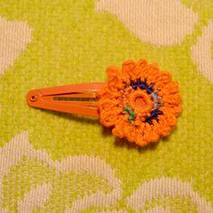 Crochet Flower Hair Clip Buy FOUR get ONE by BeachDaisyJewelry, $3.00