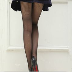 Thin Hollow Fishnet Tights Small Net Ladies Sexy Black Pantyhose Stocking Slim Fishnet Stockings Sexy Hosiery