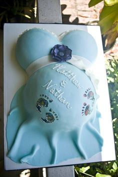 Baby shower cake for parents expecting twin boys!