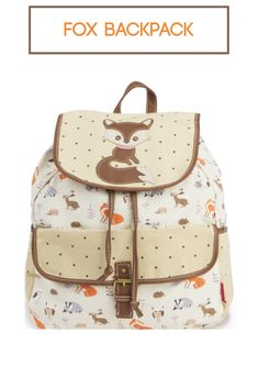 This is the backpack I want for the new school year. Tan Fox Backpack #ad #tweengirl #backtoschool