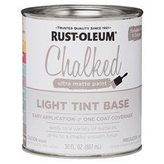 Shop for Rustoleum 287689 1 Gallon Dark Tint Base Chalked Ultra Matte Paint. Get free delivery On EVERYTHING* Overstock - Your Online Tools Shop! Get in rewards with Club O! Chalk Paint Projects, Chalk Paint Furniture, Furniture Projects, Furniture Makeover, Diy Projects, Paint Ideas, Whitewash Furniture, Farmhouse Furniture, Farmhouse Ideas