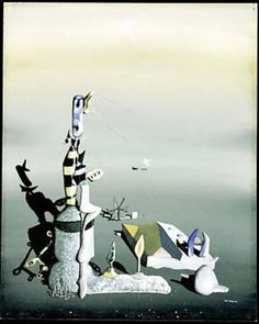 Yves Tanguy - 1943 - Untitled Artist Painting, Painting & Drawing, Yves Tanguy, Peggy Guggenheim, New York School, Abstract Expressionism, American Art, Les Oeuvres, Fine Art