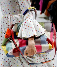 """A close up of the bags at Valentino. [link url=""""http://www.vogue.co.uk/shows/spring-summer-2018-ready-to-wear/valentino""""]See all the best bags from the SS18 shows so far here[/link]."""