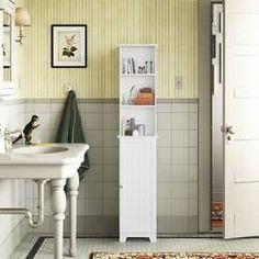Latitude Run® Jordane 34'' W x 38.5'' H x 7'' D Over-The-Toilet Storage & Reviews | Wayfair Cabinet Shelving, Cupboard Storage, Cabinet Doors, Open Shelving, Adjustable Shelving, Toilet Storage, Bathroom Storage, Toilet Shelves, Bathroom Standing Cabinet
