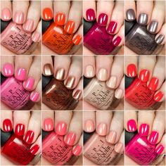 The new OPI California Dreaming Collection has all the shades you need for your summer mani and pedicures! Click through for swatches. Opi Gel Polish, Opi Nail Polish Colors, Summer Nail Polish, Nail Polish Designs, Opi Nails, Nail Designs, Shellac, Spring Nail Colors, Spring Nails