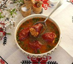 Ciorba de raci oltenesti- ciorba de ardei umpluti Romanian Food, Thai Red Curry, Salsa, Good Food, Mexican, Cooking, Ethnic Recipes, Salsa Music, Restaurant Salsa