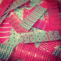 K44 Pink & Teal Washi Stickers for Erin Condren Life Planner or Plum Paper Planner