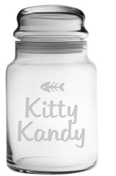 This adorable pet treat jar is the perfect size to store your felines Kitty Kandy.