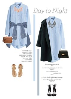 """""""Day to Night: Shirt Dress"""" by juhh ❤ liked on Polyvore"""