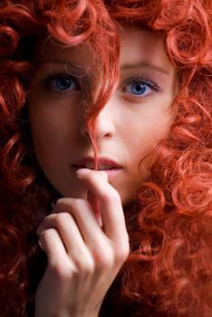 Frankly, I would've put this in my World of Beauty board, but she just looks too much like Merida from Brave.  Still pretty I must say.