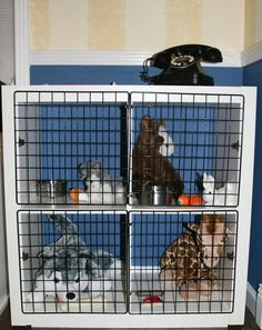 Creating a Well-Organized Stuffed Animal Storage Creative Stuffed Animals Storage Idea Organizing Stuffed Animals, Stuffed Animal Storage, Dramatic Play Area, Dramatic Play Centers, Expedit Hack, Diy Kids Furniture, Bedroom Furniture, Furniture Design, Pet Kennels