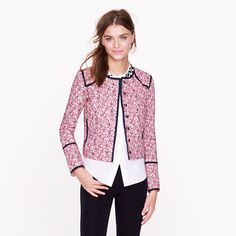 This Liberty quilted jacket in chive floral might be an interesting casual variation of a Chanel-style jacket
