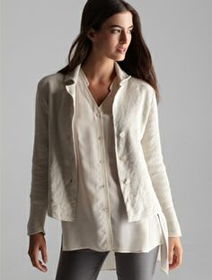 EILEEN FISHER: The February Edit - love this jacket and shirt together - so classic #eileenfisher