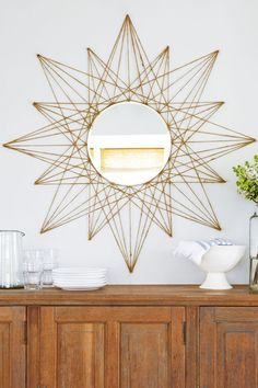 Star Mirror goodhousemag wall decor cheap These Easy DIY Decor Projects Will Refresh Your Space for Cheap Diy Home Decor Rustic, Diy Home Decor Bedroom, Diy Home Decor On A Budget, Diy Wall Decor, Cheap Home Decor, Decor Crafts, Decorating Your Home, Bedroom Ideas, Decor Room