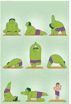 Yoga fixes everything, the Hulk knows