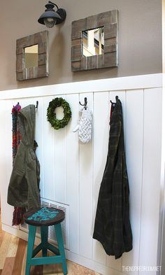 My Christmas House Tour - The Inspired Room Decor Interior Design, Interior Decorating, Decorating Ideas, Craft Ideas, Rustic Coat Rack, Christmas Home, Merry Christmas, Mudroom, Home Projects