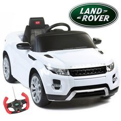 Featuring the contemporary styling Range Rover is known for, this pintsize, battery-powered SUV comes equipped with authentic badges, LED lights, an adjustable seat belt, lifelike dashboard, MP3 playe