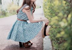 blue sundress :) different shoes though
