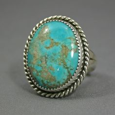 Mans Turquoise ring Kingman Mine size Jim by Turquoise Rings, Turquoise Stone, Turquoise Bracelet, Size 12, Jewelry Making, Diva, Stuff To Buy, Birthday, Style