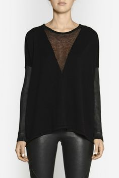 Camilla & Marc Boot Sector Knit Pullover Crop