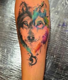 women wolf tattoos - Google Search