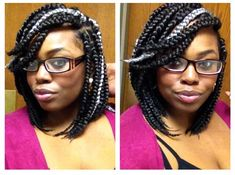box braid bob i am in love with the silver white gray. definitely found a place in my hair.