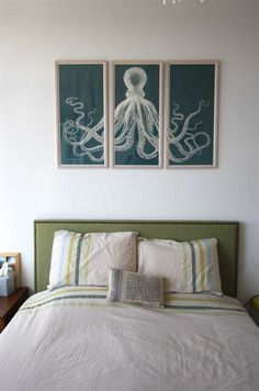 8 Dramatic Over-the-Bed Art Ideas (When You Can't Afford Something Big)