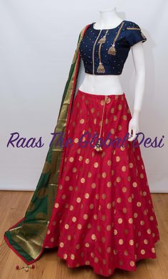 indian fashion Lengha -- Click visit link to see Half Saree Lehenga, Lehnga Dress, Indian Lehenga, Bandhani Dress, Long Anarkali, Lehenga Gown, Half Saree Designs, Choli Designs, Lehenga Designs