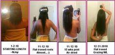 1 year hair growth progress using NJoy's Long & Healthy Hair Growth Oil