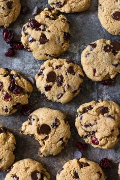 Gluten free, grain free and Paleo soft and chewy chocolate chip cranberry cookies