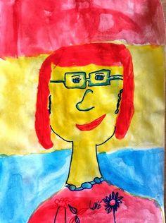 My mum Primary colors 1st grade