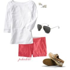 """""""They're not pink, they're Nantucket Red...there's a difference."""" by pchick60 on Polyvore"""