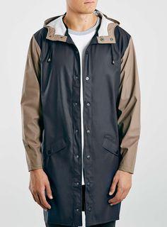 Navy 2 Tone Jacket by Rains