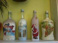 Hand Painted Bottles by Minchi165