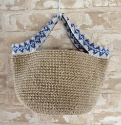 Crochet hemp market bag - idea