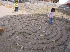 stone labyrinth pathway