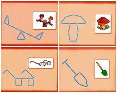 ИГРАЕМ СО СЧЕТНЫМИ ПАЛОЧКАМИ Gross Motor Activities, Sensory Activities, Busy Boxes, Social Stories, Learning Through Play, Learning Colors, Pattern Blocks, Block Patterns, Kindergarten Math