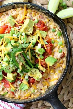 Hot Corn Dip. Ready in less than 20 minutes on the stove, fresh and GONE in minutes.