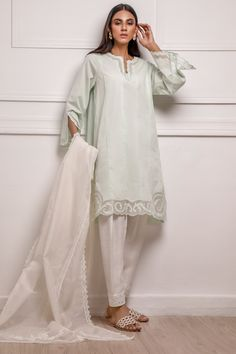 Piece Of Clothing, Embroidery Applique, Mint Green, Duster Coat, Skinny, Fabric, Cotton, Jackets, Outfits