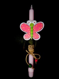Butterfly Easter candle Labada Lampada by pinelopiCreations, $14.99