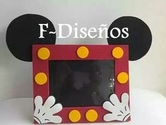 Cumpleaños Mickey Mouse | Souvenirs Mickey Mouse | Porta Retrato Mickey Mouse
