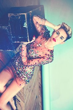 Miley Cyrus- can't get enough of her short hair!