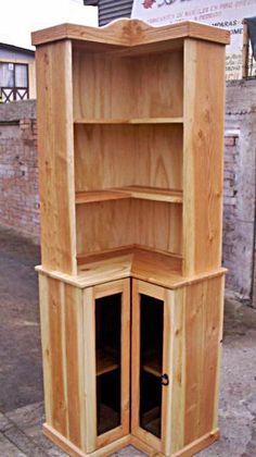 Esquinero en madera rustico muebles pinterest for Bar madera esquinero