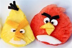 Angry birds fruit faces