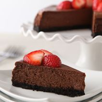 Like chocolate? Then you'll love The Best Chocolate Cheesecake from @Philadelphia Cream Cheese.  #cheesecakecheer