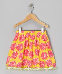 Take a look at this Yellow Floral Full Skirt - Toddler & Girls by Trish Scully Child on #zulily today!