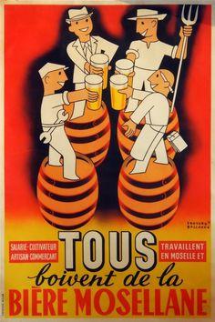 Musée Européen de la Bière beer advertising posters.
